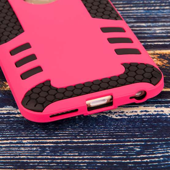 Caseflex iPhone 6 / 6s Border Combo Case - Hot Pink