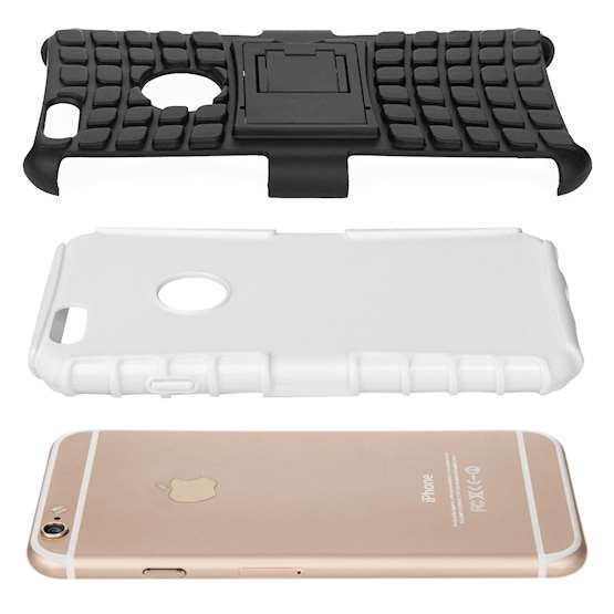 Caseflex iPhone 6 / 6s Kickstand Combo Case - White