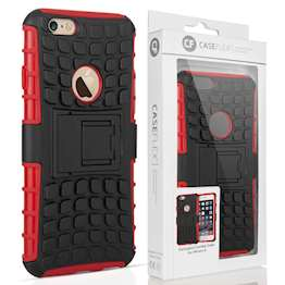 Caseflex iPhone 6 and 6s Kickstand Combo Case - Red (Retail Box)