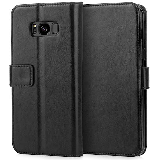 Caseflex Samsung Galaxy S8 Plus Real Leather ID Wallet Case - Black