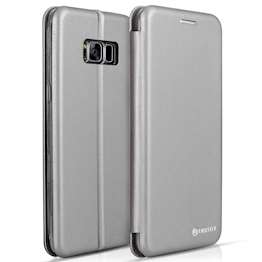 Caseflex Samsung Galaxy S8 Snap Wallet Case - Grey (Retail Box)