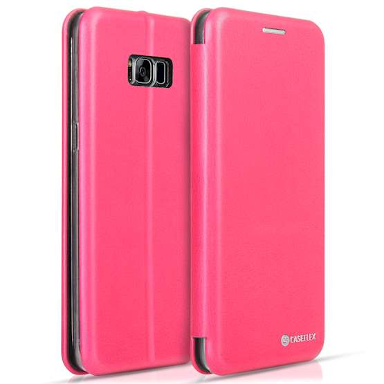 Caseflex Samsung Galaxy S8 Plus Snap Wallet Case - Pink (Retail Box)