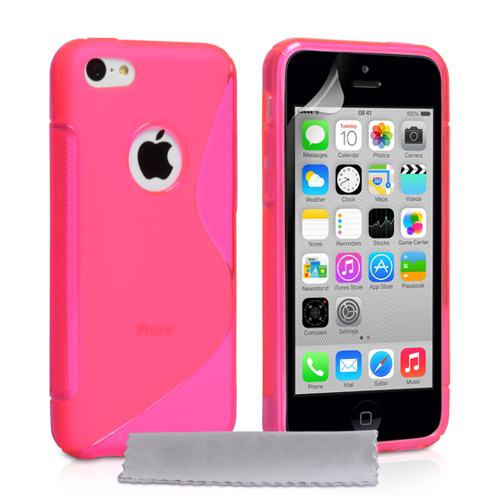 Caseflex iPhone 5c Silicone Gel S-Line Case - Hot Pink