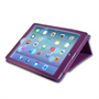 Caseflex iPad Air Textured Faux Leather Stand Cover - Purple