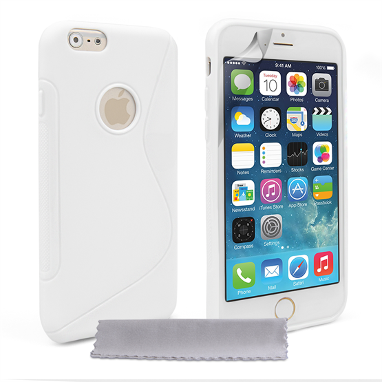 Caseflex iPhone 6 and 6s Silicone Gel S-Line Case - White