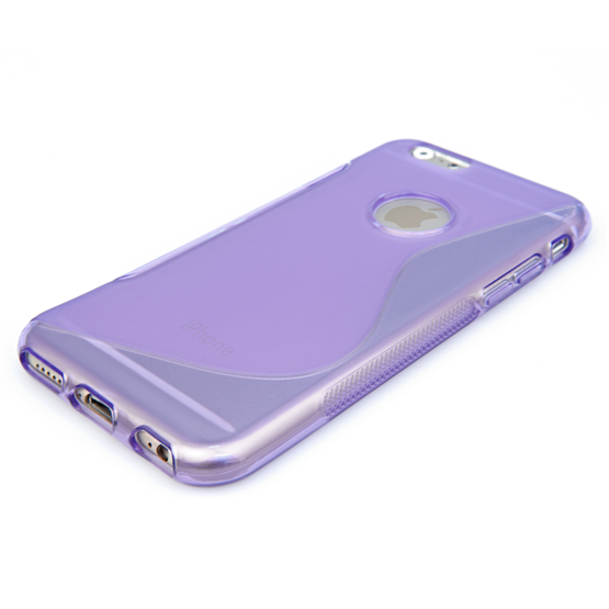 Caseflex iPhone 6 and 6s Silicone Gel S-Line Case - Purple