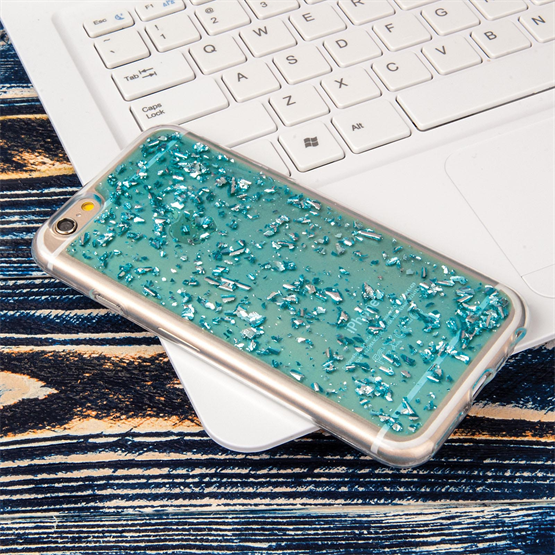 Caseflex iPhone 6 / 6s Tinfoil Soft Case - Blue