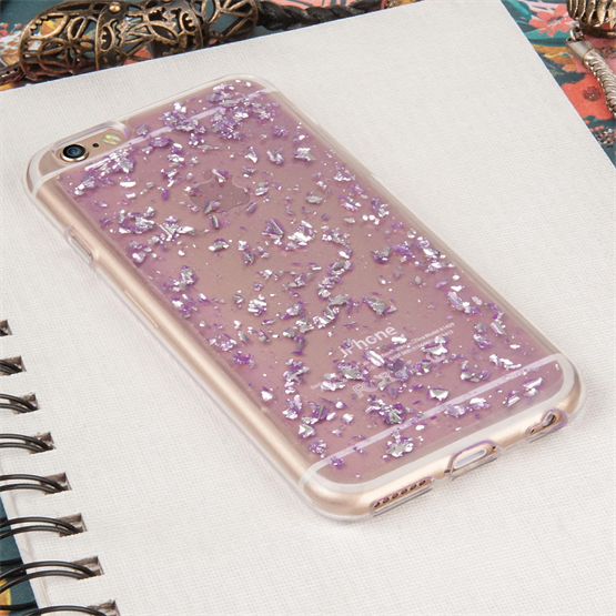 Caseflex iPhone 6 / 6s Tinfoil Soft Case - Purple