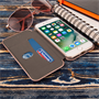 Caseflex iPhone 7 Leather-Effect  Stand Wallet with Felt Lining  - Gold