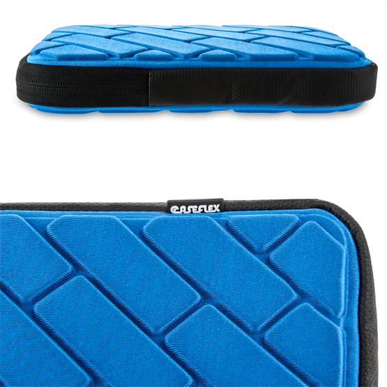 Caseflex Brick Pattern iPad Pouch - Blue