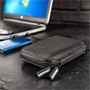 Caseflex Shockproof Hard Drive Case for 2.5 inch Portable External Hard Drives - Black