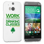 Caseflex HTC One M8 Wilde Drinking Classes Quote Hard Case – White and Green