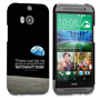 Caseflex HTC One M8 Neil Armstrong Quote Case