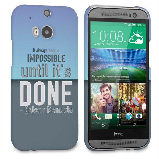 Caseflex HTC One M8 Nelson Mandela Quote Case