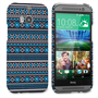 Caseflex HTC One M8 Fairisle Case – Grey with Blue Background