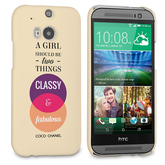 Caseflex HTC One M8 Chanel 'Classy and Fabulous' Quote Case