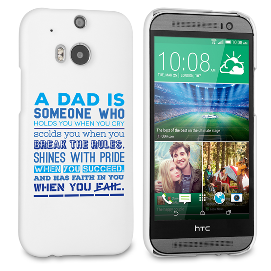 Caseflex Definition of a Dad Quote HTC One M8 Case