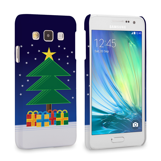 Caseflex Samsung Galaxy A3 Christmas Night Tree & Presents Hard Case