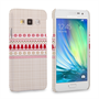 Caseflex Samsung Galaxy A3 Christmas Knitted Snowflake Jumper Hard Case - Brown / Red / White