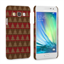 Caseflex Samsung Galaxy A3 Christmas Tree Knit Jumper Hard Case - Brown / Red