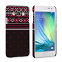 Caseflex Samsung Galaxy A3 Fairisle Case – Grey and Red Half Pattern