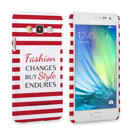 Caseflex Samsung Galaxy A3 Chanel 'Fashion Changes' Quote Case – Red and White