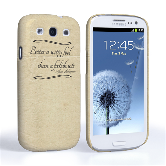 Caseflex Samsung Galaxy S3 Shakespeare Quote Case