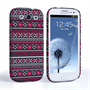 Caseflex Samsung Galaxy S3 Fairisle Case – Grey with Red Background