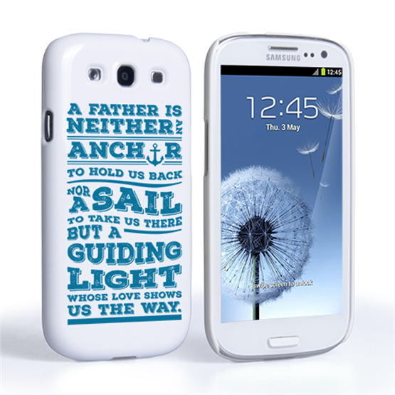 Caseflex Father Sail Quote Samsung Galaxy S3 Case