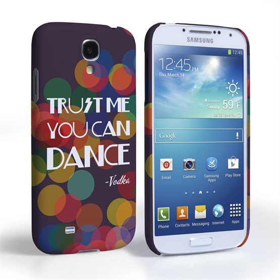 Caseflex Samsung Galaxy S4 Vodka Dance Quote Hard Case – Purple
