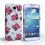 Caseflex Samsung Galaxy S4 Vintage Roses Wallpaper Hard Case – Light Blue