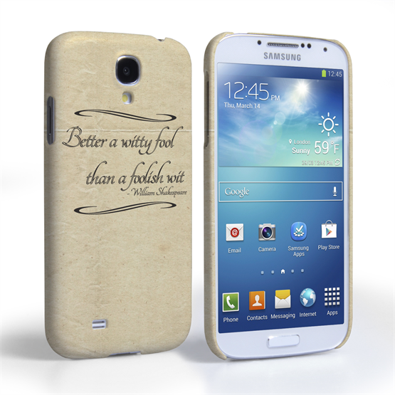 Caseflex Samsung Galaxy S4 Shakespeare Quote Case