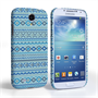 Caseflex Samsung Galaxy S4 Fairisle Case – Blue with Blue Background