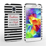 Caseflex Samsung Galaxy S5 Chanel 'Fashion Changes' Quote Case – Black and White