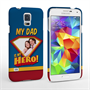 Caseflex My Dad, My Hero Customised Photo Samsung Galaxy S5 Case – Blue