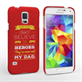 Caseflex Dad Heroes Quote Samsung Galaxy S5 Case - Red