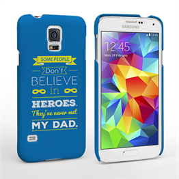 Caseflex Dad Heroes Quote Samsung Galaxy S5 Case - Blue