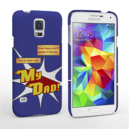 Caseflex My Dad Hero Cartoon Samsung Galaxy S5 Case – Blue