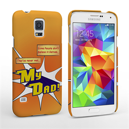 Caseflex My Dad Hero Cartoon Samsung Galaxy S5 Case – Orange