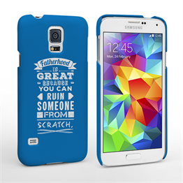 Caseflex Fatherhood Funny Quote Samsung Galaxy S5 Case – Blue