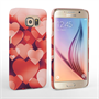 Caseflex Samsung Galaxy S6 Shimmering Hearts Case - Red
