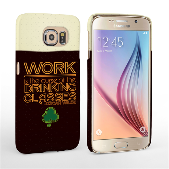 Caseflex Samsung Galaxy S6 Wilde Drinking Classes Quote Hard Case - Black