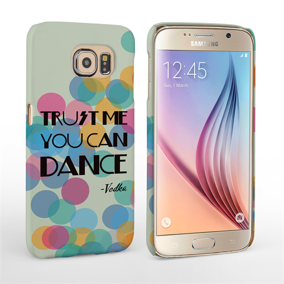 Caseflex Samsung Galaxy S6 Vodka Dance Quote Hard Case – Green