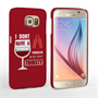 Caseflex Samsung Galaxy S6 'Really Thirsty' Quote Hard Case – Red