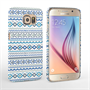 Caseflex Samsung Galaxy S6 Fairisle Case – Blue with White Background