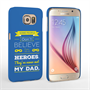Caseflex Dad Heroes Quote Samsung Galaxy S6 Case - Blue