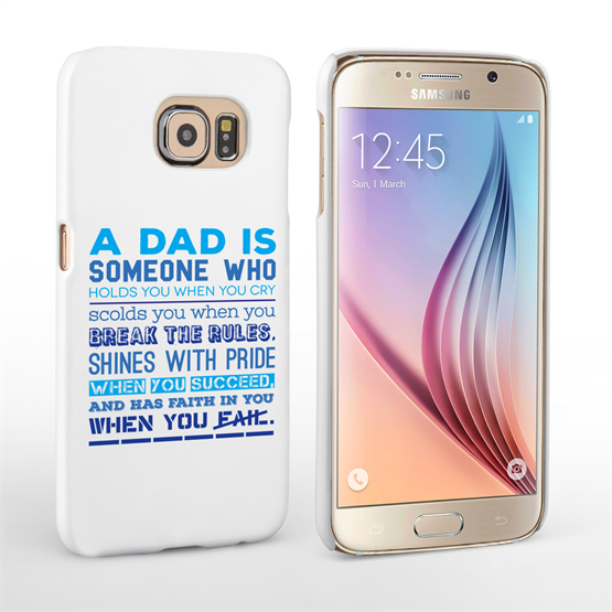 Caseflex Definition of a Dad Quote Samsung Galaxy S6 Case