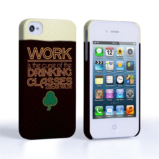 Caseflex iPhone 4 / 4S Wilde Drinking Classes Quote Hard Case - Black