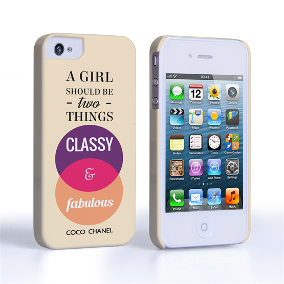 Caseflex iPhone 4/4s Chanel 'Classy and Fabulous' Quote Case