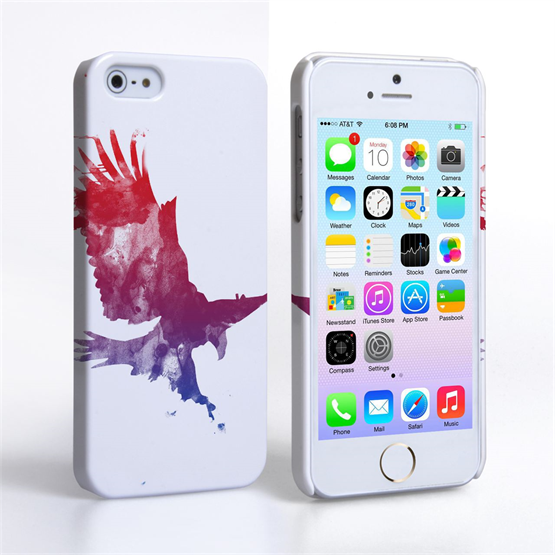 Caseflex iPhone SE Eagle Splash Hard Case